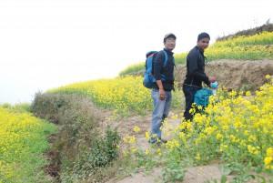 Suresh et Pankaj, guides  chez GST.