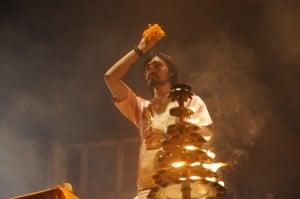 Cérémonie hindou à Varanasi