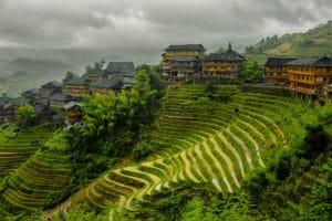 Rizières en terrasses à Tiantouzhai en Chine - Voyages en petits groupes et sur mesure en Asie, Afrique, Amérique du Sud