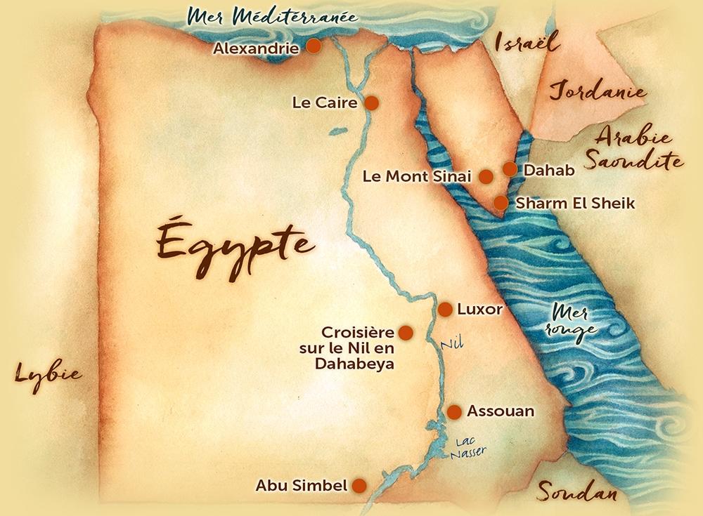 Carte Egypte Interets Les Routes Du Monde