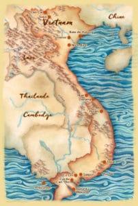 Carte des points d'intérêts au Vietnam - Les Routes du Monde