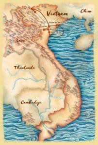 Carte du voyage sur mesure proposé au nord du Vietnam - Les Routes du Monde