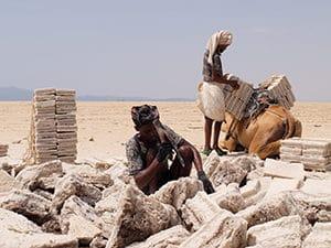 Voyage organisé en petit groupe - tailleurs de sel Danakil - Éthiopie - Agence de voyage Les Routes du Monde