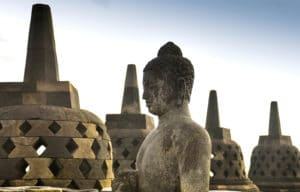 Borobudur, Java, Indonésie - Les Routes du Monde
