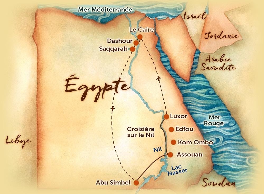 Carte - Égypte - La terre éternelle