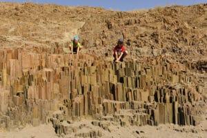 Organ pipes, Twyfelfontein, Namibie - les Routes du Monde