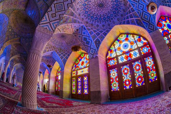 Voyage organisé en petit groupe - mosquée Nasir al-Mulk - Chiraz - Iran - Agence de voyage Les Routes du Monde