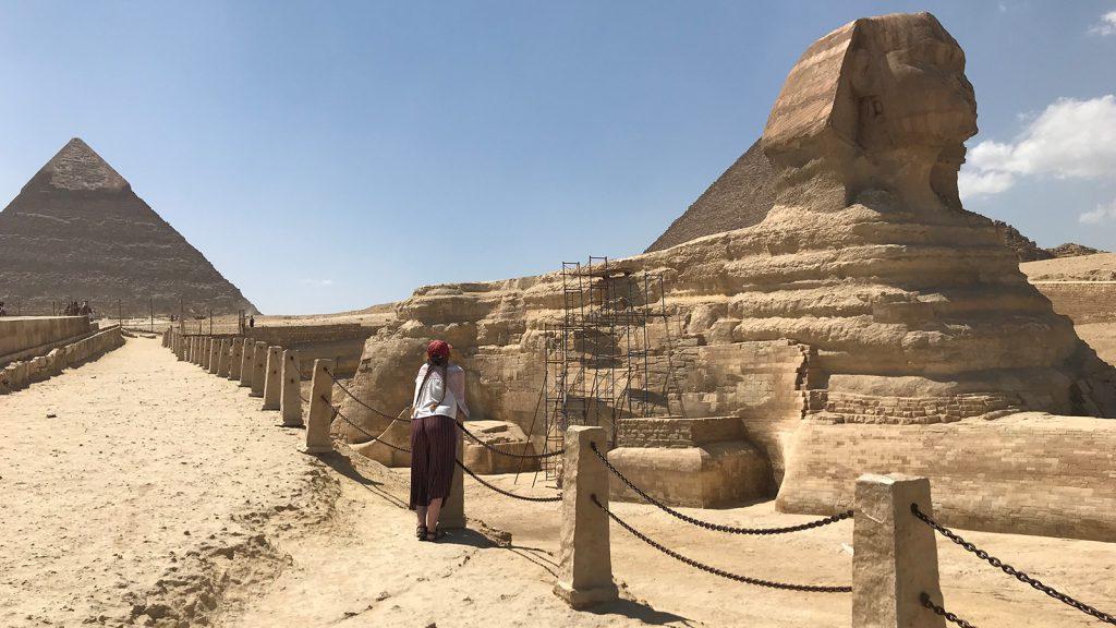 Voyage organisé en petit groupe - Sphinx de Giseh - Egypte - Agence de voyage Les Routes du Monde