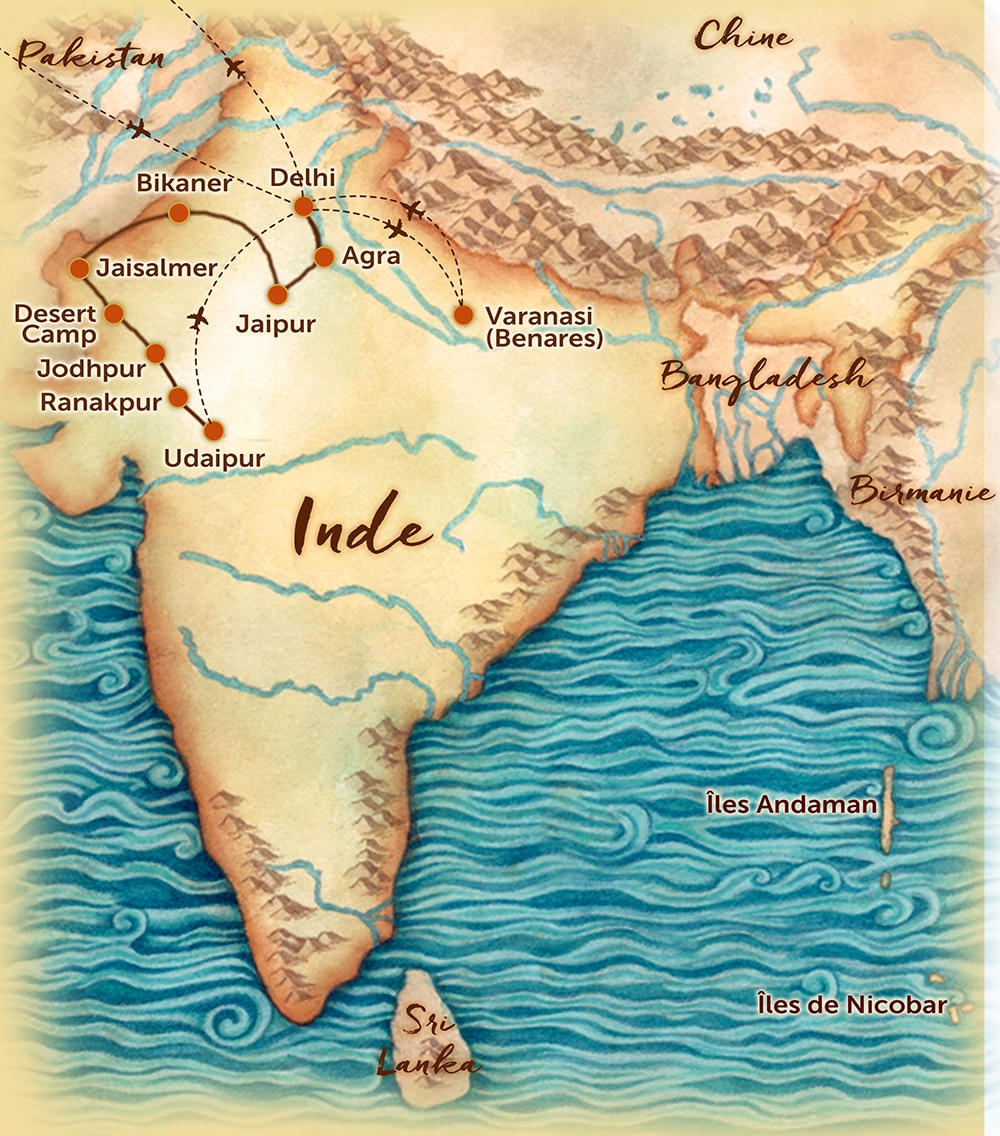 Rajasthan Carte Monde.Old Circuits Carte Inde Les Routes Du Monde