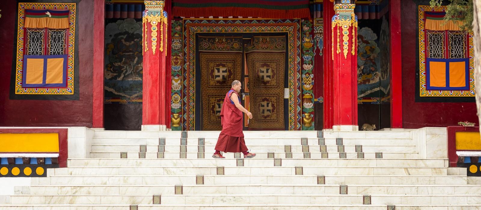 Voyage organisé en petit groupe - monastère Bon - Inde du nord - Agence de voyage Les Routes du Monde