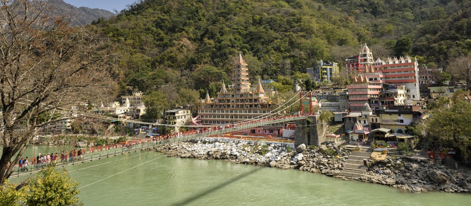 Pont Lakshman Jhula à Rishikesh en Inde